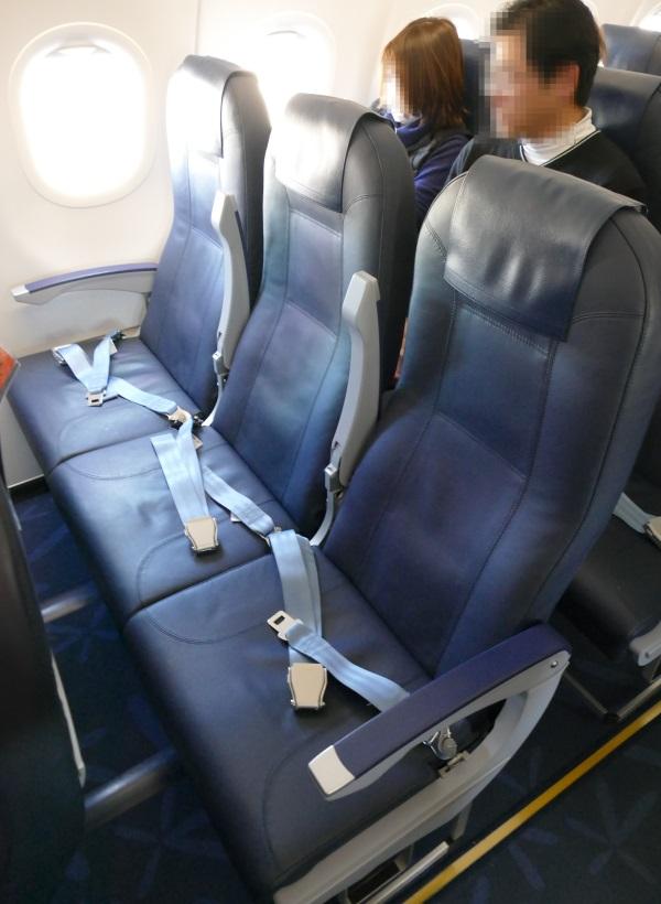 バニラエアの10号機の座席