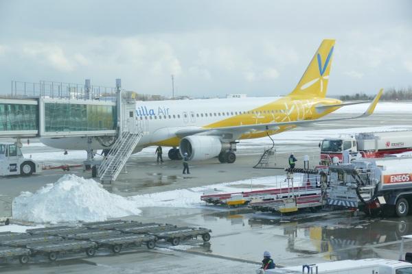 午後1時37分に函館空港に着陸・午後1時41分に駐機場に到着