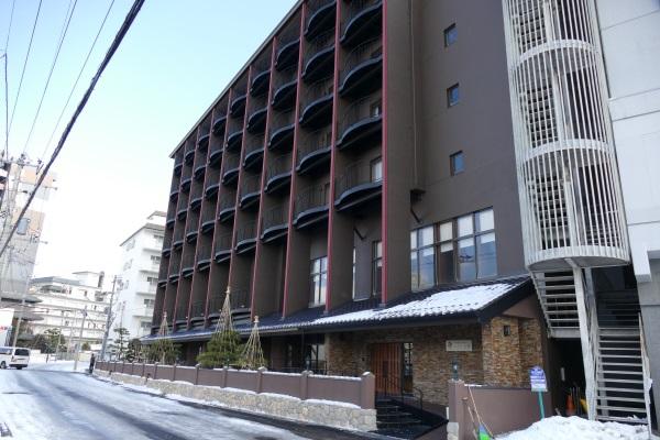 「函館湯の川温泉 ホテル万惣」の外観