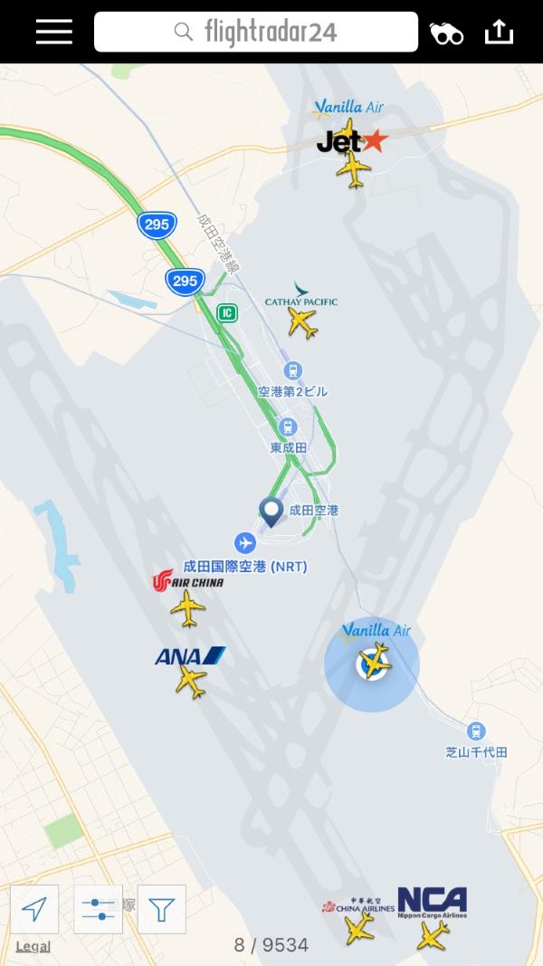 2016年12月24日のJW108便の駐機場