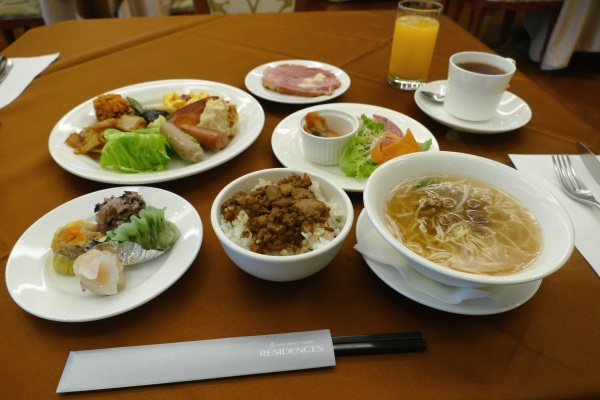 朝からボリューム満点のサンワンレジデンシズ台北の朝食ブッフェ