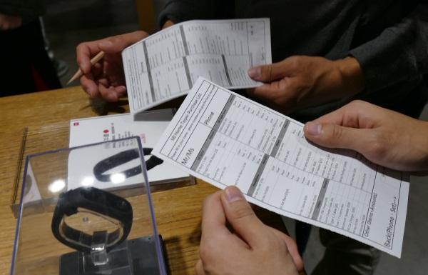 注文票に記入しレジで渡せばOK