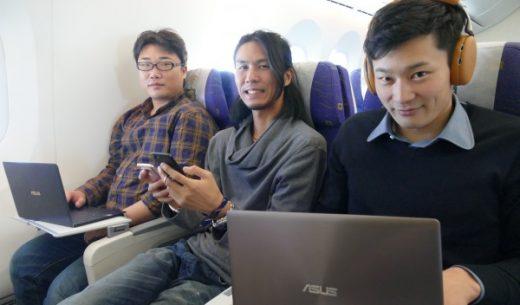 機内Wi-Fi&電源完備のLCCスクートで台北に向かったガジェット系人気ブロガー3人