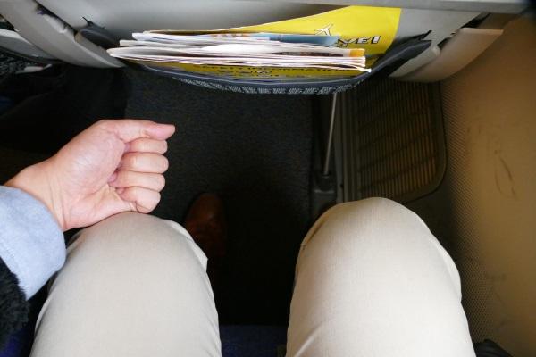 握りこぶし2個分以上のスペースがあるスクートのスーパーシート