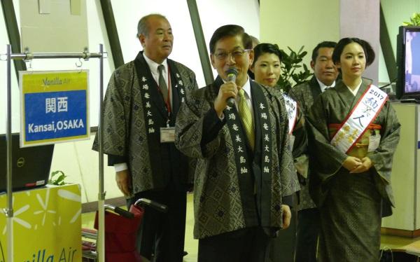 バニラエアの石井会長の挨拶の後、バニラエアファンから名古屋便の直訴があった