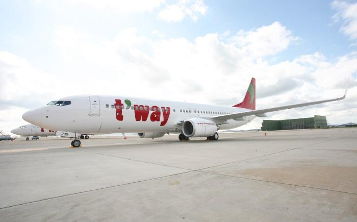 ティーウェイ航空の機体(写真提供:ティーウェイ航空)