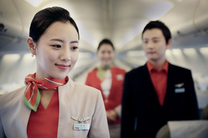 ティーウェイ航空の客室乗務員(写真提供:ティーウェイ航空)
