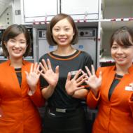 LCCジェットスター・ジャパンの上海発成田行きGK36便の初便の客室乗務員