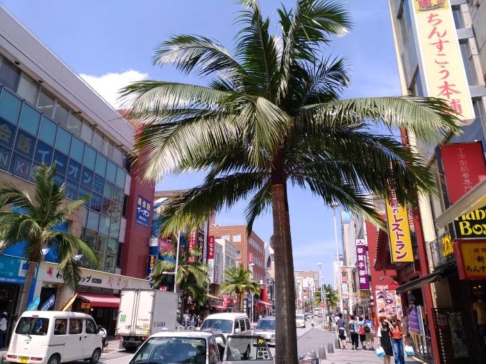 那覇市の国際通り(2017年5月撮影)