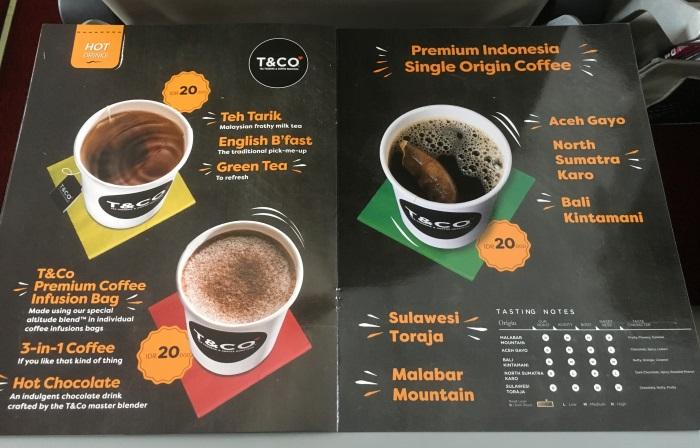 インドネシア・エアアジアXの機内食のメニューその5(2017年5月)