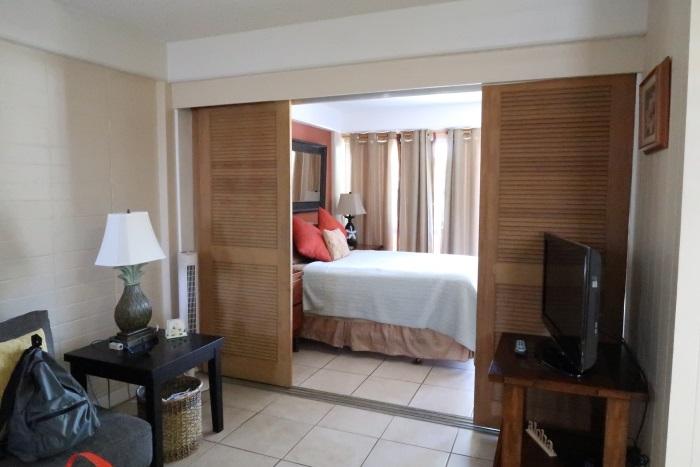 ホノルルの宿泊先の部屋