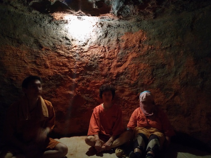 窯サウナの内部