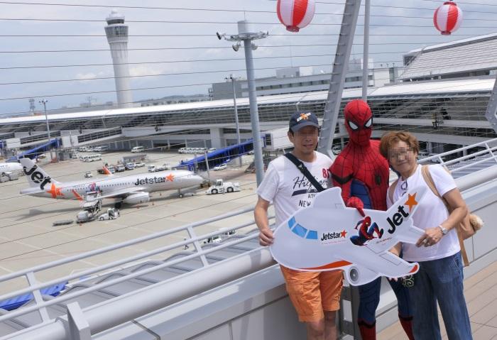 公式スパイダーマン×スパイダージェットの貴重な記念撮影が可能
