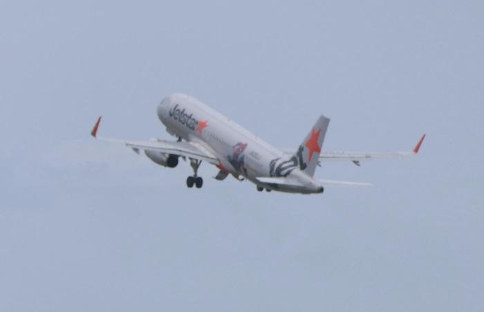 「スパイダージェット」はGK383便として沖縄・那覇へ