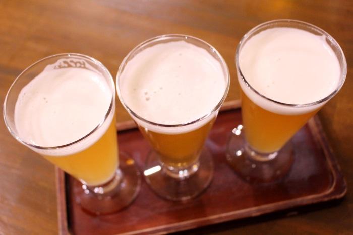今回はピルスナー・ヴァイツェン・ケルシュの3種類を飲み比べ