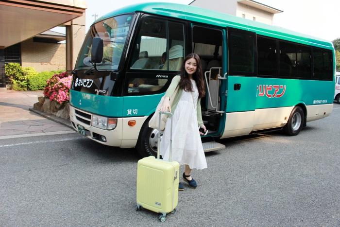 「リゾートホテル オリビアン小豆島」へは小豆島の土庄港から無料の送迎バスがある