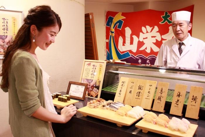 握りたてのお寿司も食べ放題