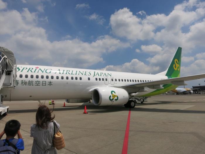成田~高松線(運休中)の就航初便の機体(2014年8月1日撮影)