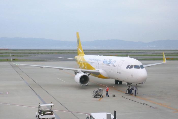 関西空港に到着するバニラエアのA320型機(2017年7月撮影)