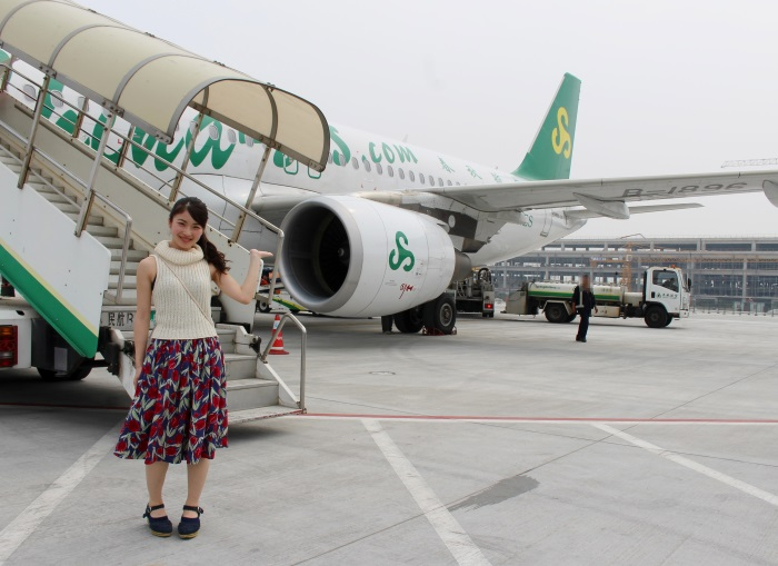 わずか2時間で上海浦東国際空港に到着
