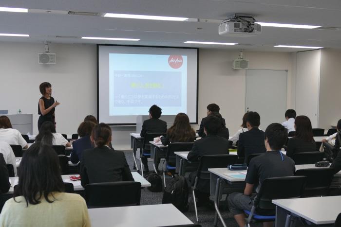 中部国際空港セントレア内で開講された日本福祉大学の夏季集中講座