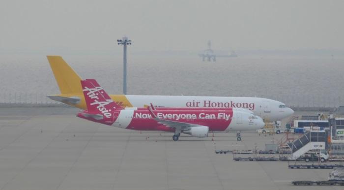 エアアジア・ジャパンの赤い機体