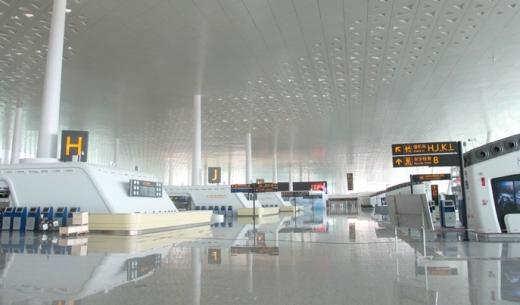 武漢天河国際空港の第3ターミナルの写真