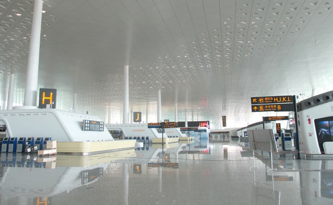 武漢天河国際空港の第3ターミナルの写真(公式HPより)