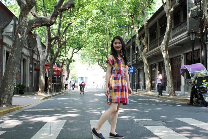 中国・上海の「新天地」にて