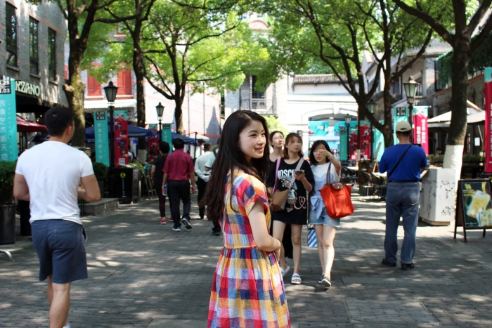 上海の新天地にて