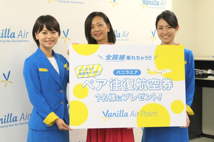 「全路線ペア往復航空券」のプレゼントキャンペーンも実施