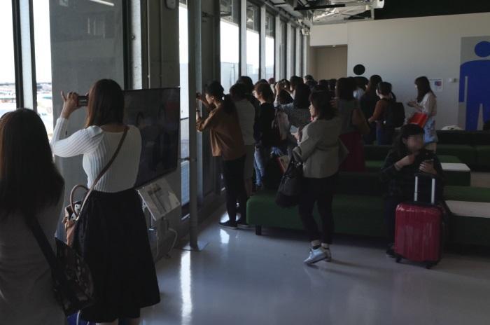 """成田空港で""""ユノ機""""を撮影できる貴重なチャンスに"""
