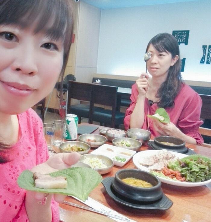 ロッテ百貨店で韓国料理のポッサムを