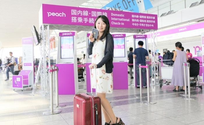 ピーチ・アビエーションの仙台~台北(桃園)線の初便に搭乗した宮城大学の高橋悠記さん