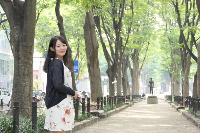 ケヤキ並木が美しい仙台の定禅寺通り