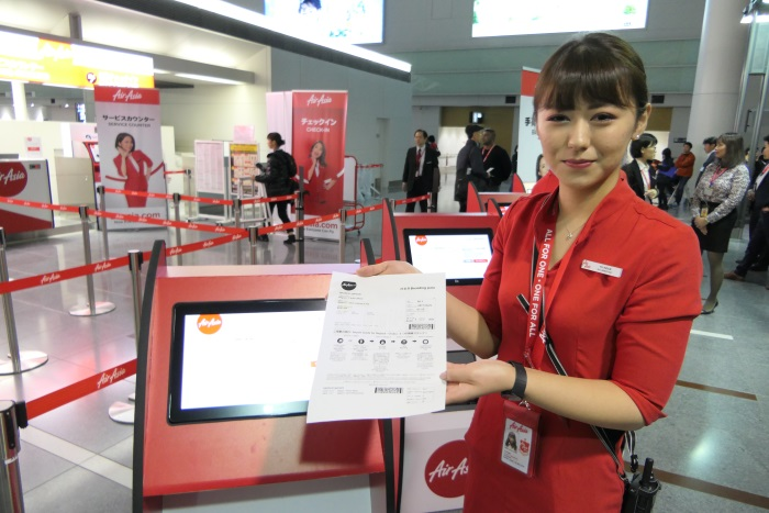 エアアジア・ジャパンのセルフチェックイン機