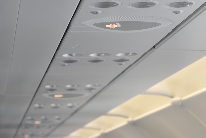 午前8時25分 安定飛行に入りシートベルトサインが消灯