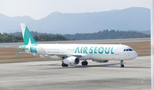 2017年12月22日よりソウル~成田・米子線が増便するLCCエアソウルの機体