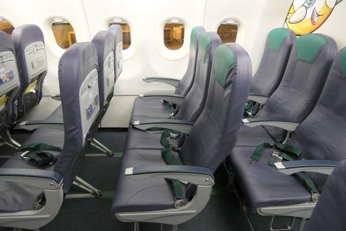 セブパシフィック航空の座席(A320型機)