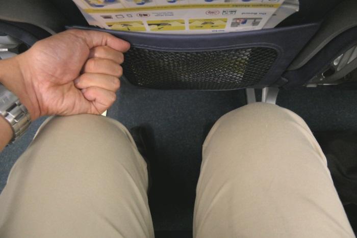 セブパシフィック航空の足元の空間