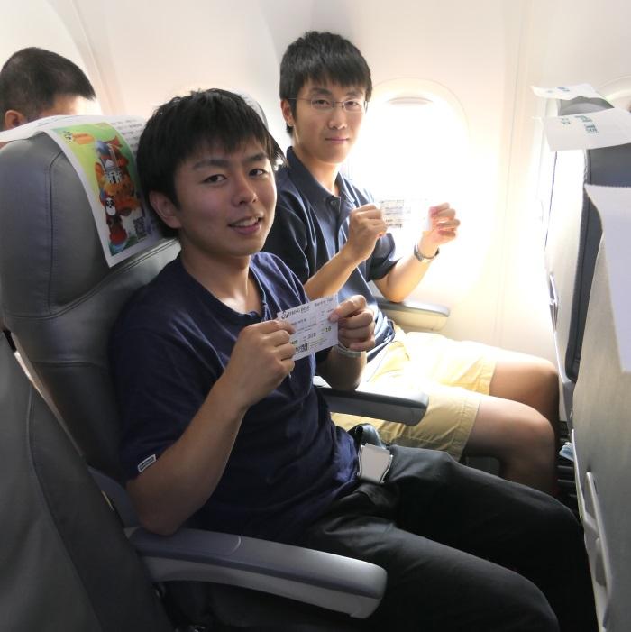 大学生2名がLCC春秋航空日本(Spring Japan)に初搭乗