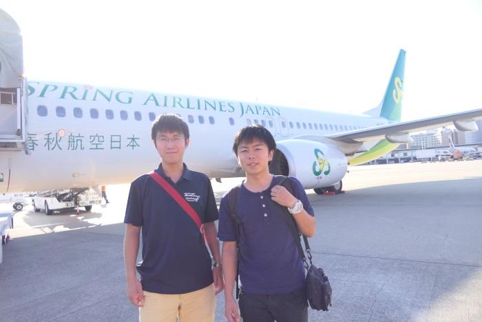初めてのLCC春秋航空日本のフライトに大満足の2人
