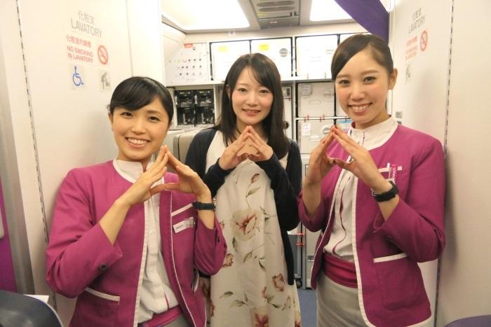 仙台発台北行きMM775便の初便に搭乗