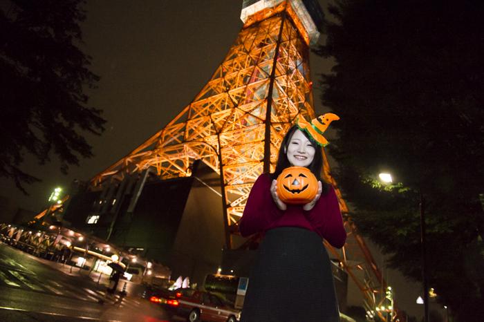 観光もハロウィンも両方楽しめる東京タワー