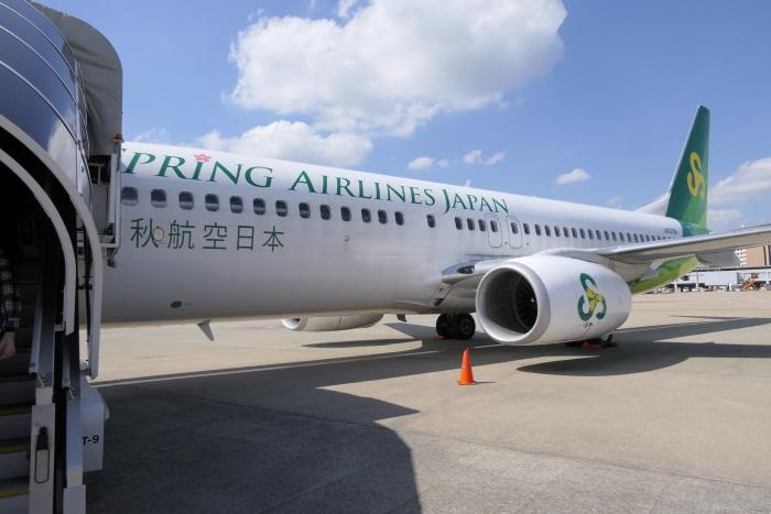 春秋航空日本のIJ701便成田発佐賀行きの機体