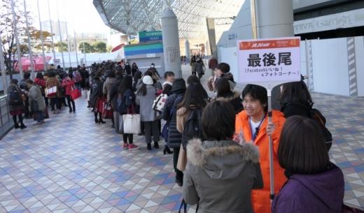東方神起 LIVE TOUR 2017 ~Begin Again~の東京ドームのLCCチェジュ航空のブースの行列