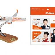 LCCチェジュ航空のイメージモデル東方神起のT-MONEYカードやチャンミンさんが描かれたモデルプレーンを販売