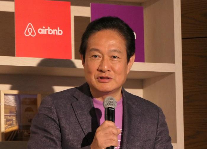 airbnbとのコラボに期待を示すピーチの井上慎一CEO
