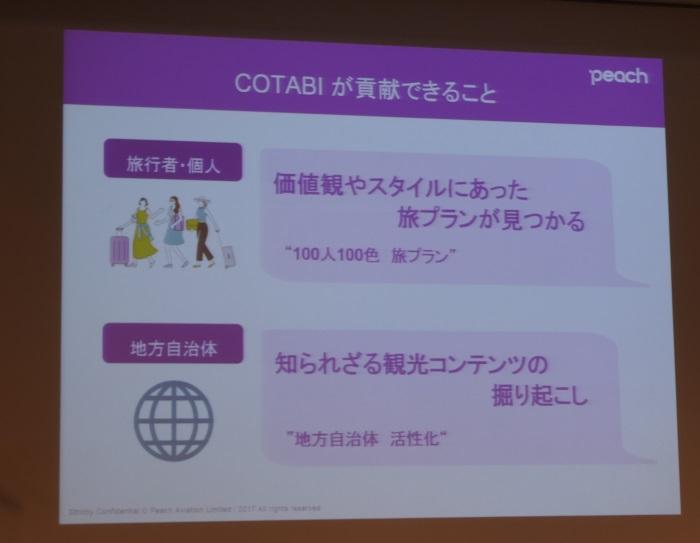 「COTABI」が果たす役割について