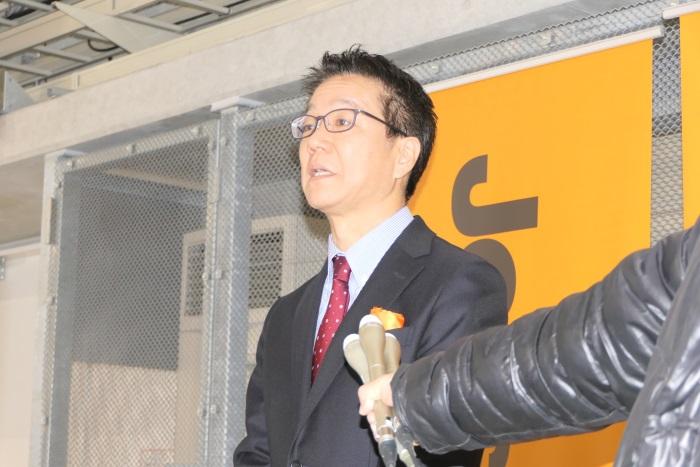 取材に応じるジェットスター・ジャパンの取締役常務執行役員 藤岡秀多氏